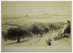 View from the mountain Scopo, c. by Edward Lear Edward Lear, Greek History, Greece, Places To Visit, Mountain, Drawings, Prints, Painting, Delicate