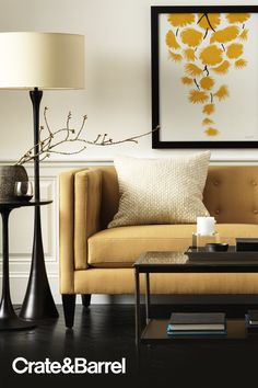Art imitates life, the sofa imitates art. Create Your Own Custom Upholstery online and in stores.
