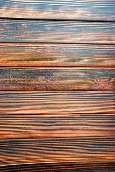 Shou-sugi-ban treated wood. Gorgeous.