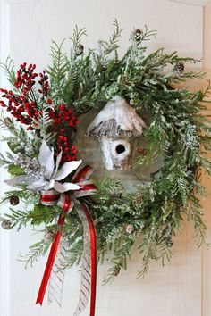 Little Bit of Country Christmas Wreath by FloralsFromHome on Etsy, $135.00