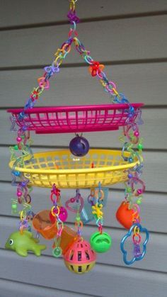 Small Pets DIY... sugar glider or bird toy This would be perfect for sugar gliders or parakeets.