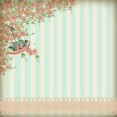 glenda's World : Papers Designed by Glenda Baby Scrapbook, Scrapbook Paper, Scrapbooking, Vintage Crafts, Vintage Paper, Certificate Design Template, Project Life Cards, Printable Recipe Cards, Pretty Backgrounds