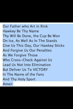 This is my new supersticious prayer before every game
