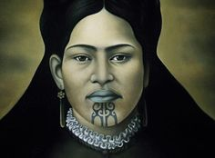 For Maori women, Ta Moko(the markings on the chin) represents achievement, adulthood and aristocracy