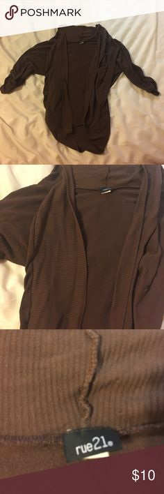 Brown Cardigan Brown 3/4 length sleeve Cardigan Rue 21 Sweaters Cardigans