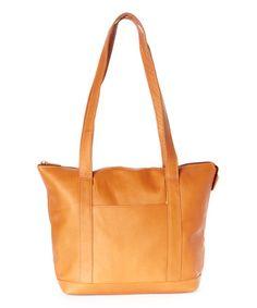 Look at this #zulilyfind! Tan Leather Tote Bag #zulilyfinds