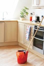 Green Cleaning: You can make a nontoxic floor cleaner with white vinegar, lemon oil and oregano oil.