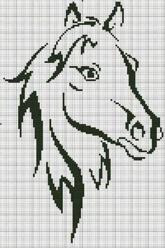 Sticken Pferde - cross stitch horses - free pattern