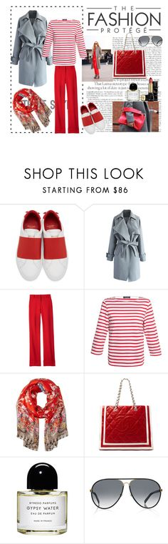 """""""Love red"""" by nathalie-puex ❤ liked on Polyvore featuring Givenchy, Chicwish, Laveer, Saint James, Roberto Cavalli, Byredo, Gucci and Guerlain"""