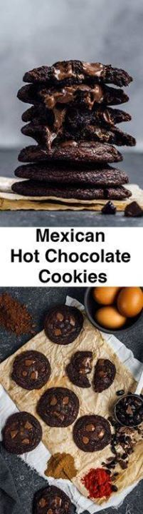Mexican Hot Chocolat Mexican Hot Chocolate Cookies are...   Mexican Hot Chocolat Mexican Hot Chocolate Cookies are literally  Mexican Hot Chocolat Mexican Hot Chocolate Cookies are literally the best chocolate cookies Ive ever tasted and made. Super chewy on the edges super soft on the center and loaded with chocolate with a spicy kick.