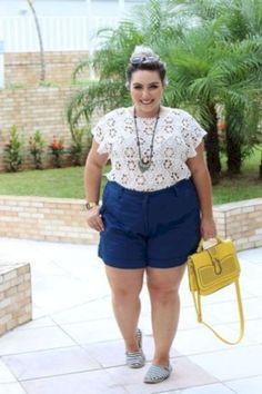 Stylish Plus-Size Fashion Ideas – Designer Fashion Tips Look Plus Size, Plus Size Summer, Plus Size Women, Big Girl Fashion, Curvy Fashion, Plus Size Fashion, Womens Fashion, Curvy Outfits, Mode Outfits