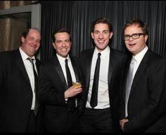 Brian Baumgartner, Ed Helms, John Krasinski, and Rainn Wilson from The Office