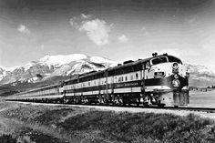 Great Northern's Empire Builder near East Glacier, Montana.