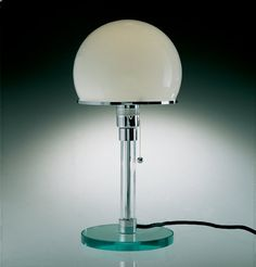 Wilhelm Wagenfeld WG 24 Bauhaus Lamp, design from 1924.