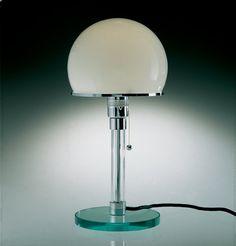 Wilhelm Wagenfeld WG 24 Bauhaus Lamp, design from 1924.