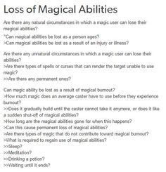 Loss of magical abilities writing ideas, fantasy writing prompts, writer prompts, writer tips Book Writing Tips, Creative Writing Prompts, Writing Words, Writing Resources, Writing Help, Writing Skills, Writing Ideas, Writer Prompts, Story Prompts