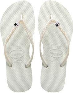watch 81140 0ab50 Slim Bride and Groom- Havaianas Bridal Flip Flops Weiße Flip-flops, Weiße  Männerschuhe