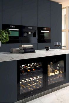 12 Nice Ideas for Your Modern Kitchen Design black kitchen units interior design Cabnits Kitchen, Kitchen Stove, Kitchen Units, Kitchen Layout, Ikea Kitchen, Kitchen Pantry, Kitchen Appliances, Kitchen Ideas, Kitchen Decor