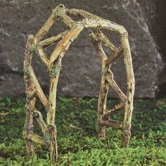 Woodland Twig Arch www.teeliesfairygarden.com The old fashioned structure of this twig arch will fit in any fairy wonderland! #fairyarch