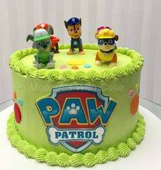 Paw Patrol birthday cake. Covered in fresh buttercream.