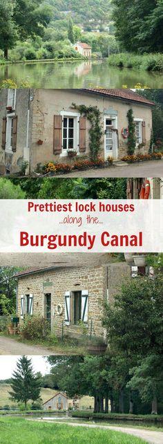 Enjoy the beautiful lock-houses walking along the Burgundy Canal in France from Pouilly-en-Auxois to Saint-Jean-de-Losne
