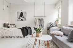 Pastel studio apartment