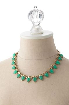Blue & Green Beaded Statement Necklace   Green Adonia Necklace