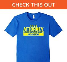 Mens The Official Smart and Awesome Attorney T-Shirt (Yellow) 3XL Royal Blue - Careers professions shirts (*Amazon Partner-Link)