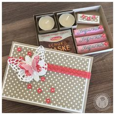 Stampin' Up! - kleine Auszeit, 15 Min Wellness - Bellas Stempelwelt - Savanne , Melonensorbet Scrapbook Box, Scrapbook Paper Crafts, Scrapbooking, Craft Packaging, Pretty Packaging, Diy Gift Box, Diy Gifts, Stampin Up, Diy Presents