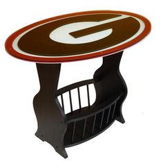 Georgia Bulldogs Logo End Table