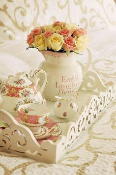 Rose tea party or breakfast in bed?