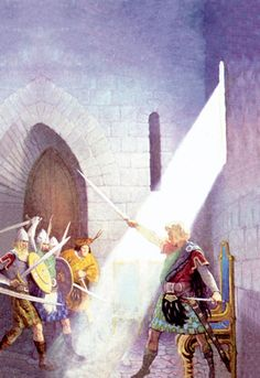 Wallace Draws the King's Sword, by N.C. Wyeth
