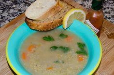 Healthy organic Freekeh soup