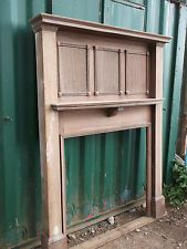 Reclaimed Victorian Edwardian oak fireplace fire surround in Antiques, Architectural Antiques, Fireplaces Wooden Fire Surrounds, Wooden Fireplace Surround, Concrete Fireplace, Fireplace Surrounds, 1930s Fireplace, Edwardian Fireplace, Fireplace Ideas, Fireplace Mantle, Living Room Green