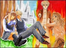 Parallels of ours . by draco-hermione-club on DeviantArt Cartoon Man, Cartoon Movies, Hermione Granger, Draco Malfoy, Evolution Cartoon, Draco And Hermione Fanfiction, Dramione Fan Art, Harry James Potter, Crazy Girls