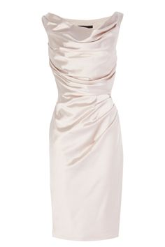 The Manda Duchess Satin Dress is flattering and the perfect choice for any occasion.The luxe satin fabric and fitted styling create a beautiful feminine feel the clever ruching around specific areas hide any trouble areas perfectly. A glamorous knee-length pencil skirt and perfectly proportioned capped sleeps and scoop neckline create a classic silhouette and are a blank canvas to accessorise and make your own. Closed with a concealed side zip.