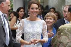 Kate Middleton in ice blue lace dress