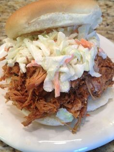 BBQ Pulled Pork Sandwich with Creamy Coleslaw