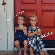 Girl names- Ruth Marie & Ruby Monroe #babygirlnames #babygirls #sisters #names #nameyourbaby