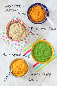 4 Baby Puree Recipes That Make Great Side Dishes Top Tip For Weaning Baby Puree Recipes, Pureed Food Recipes, Baby Weaning Recipes Puree, Protein Recipes, Juice Recipes, Detox Recipes, Salad Recipes, Easy Meals For Kids, Toddler Meals