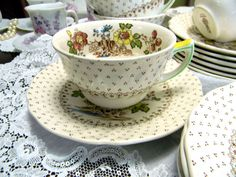 1930s Royal Doulton Grantham Tea Cup and Saucer England .