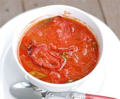 Slow-Roasted Tomato Soup  adapted from My Father's Daughter by Gwyneth Paltrow