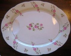 Lovely platter with roses and gold trim. #decorativedishes