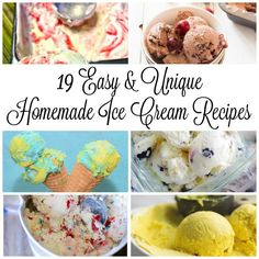 These 19 Easy & Unique Homemade Ice Cream Recipes is a delicious collection of ice creams with unique flavors, like Mint Matcha, Black Coffee, Mexican Churro, and even a Finding Dory Inspired Ice Cream your little ones will love! Ice Cream Desserts, Frozen Desserts, Ice Cream Recipes, Frozen Treats, National Ice Cream Month, Chocolate Chip Ice Cream, Delicious Fruit, Delicious Recipes, Sweet Tarts