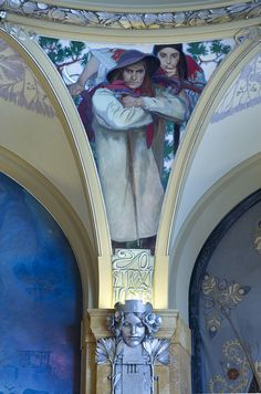 @@ The Municipal House (Obecní Dum) Ceiling by Alphonse Mucha, Prague