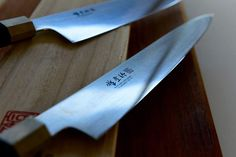 Toolkit: Gary's very expensive but beautiful Japanese knives. Gary Mehigan, Kitchen Knives, Good Food, Restaurant, Japanese, Eat, Cooking, Recipes, Beautiful