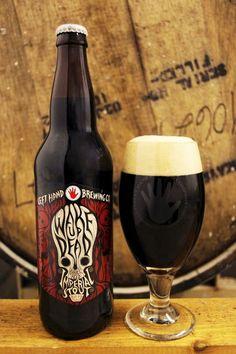 Cerveja Left Hand Wake Up Dead Barrel-Aged - Left Hand Brewing Company Beer Brewing, Home Brewing, Guinness, Beer Bucket, I Like Beer, Dark Beer, Beers Of The World, Beer Brands, Beer Packaging