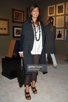 Consuelo Castiglioni attends GALERIE GMURZYNSKA at Art Basel Miami Beach 2008 at Miami Beach Convention Center on December 2008 in Miami Beach, FL. Older Women Fashion, Womens Fashion, Lucinda Chambers, Italian Women, Winter Chic, Street Style, Street Chic, Marni, New Outfits
