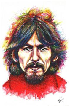 George Penny Lane Pop art Serie #George Harrison #Beatles #PennyLane