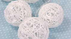 Askartele kauniit loistavat lumipallot!